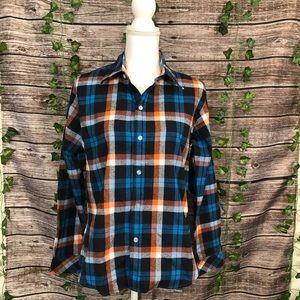 NWOT- Sparshine XXL button down plaid shirt